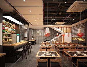 Nhà hàng thiết kế theo phong cách Hàn Quốc